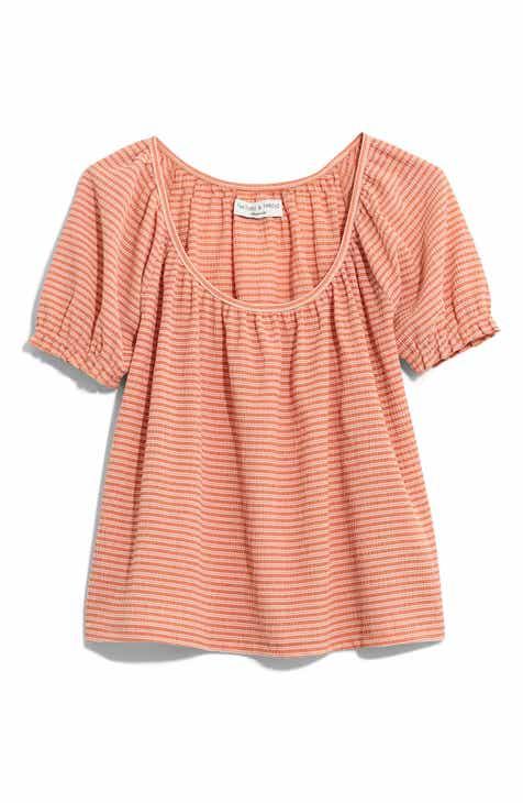 a6cf3a3110e577 Madewell Texture   Thread Stripe Peasant Top (Regular   Plus Size)