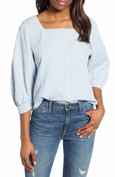 dd4a2fb4f47a76 Lucky Brand Stripe Popover Top