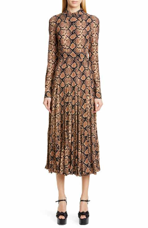 4540eac00e Michael Kors Belted Long Sleeve Crushed Georgette Shirtdress