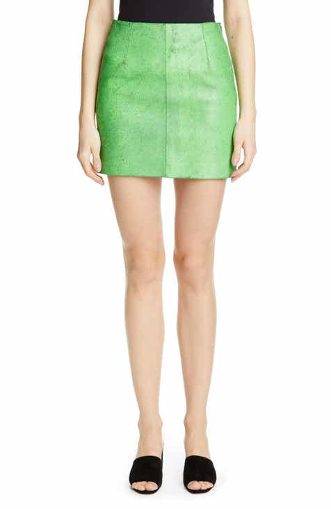 Simon Miller Willow Leather Miniskirt by SIMON MILLER