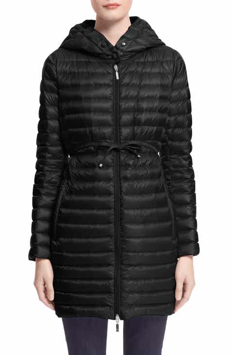 Moncler Barbel Tie Waist Hooded Down Coat 5218fc2b48