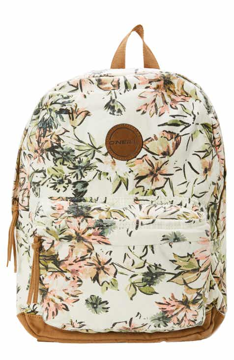 789a3f7853bd O Neill Shoreline Floral Print Canvas Backpack