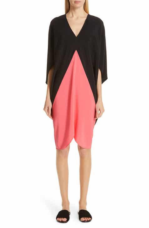 Zero + Maria Cornejo Koya Colorblock Stretch Silk Dress by ZERO AND MARIA CORNEJO