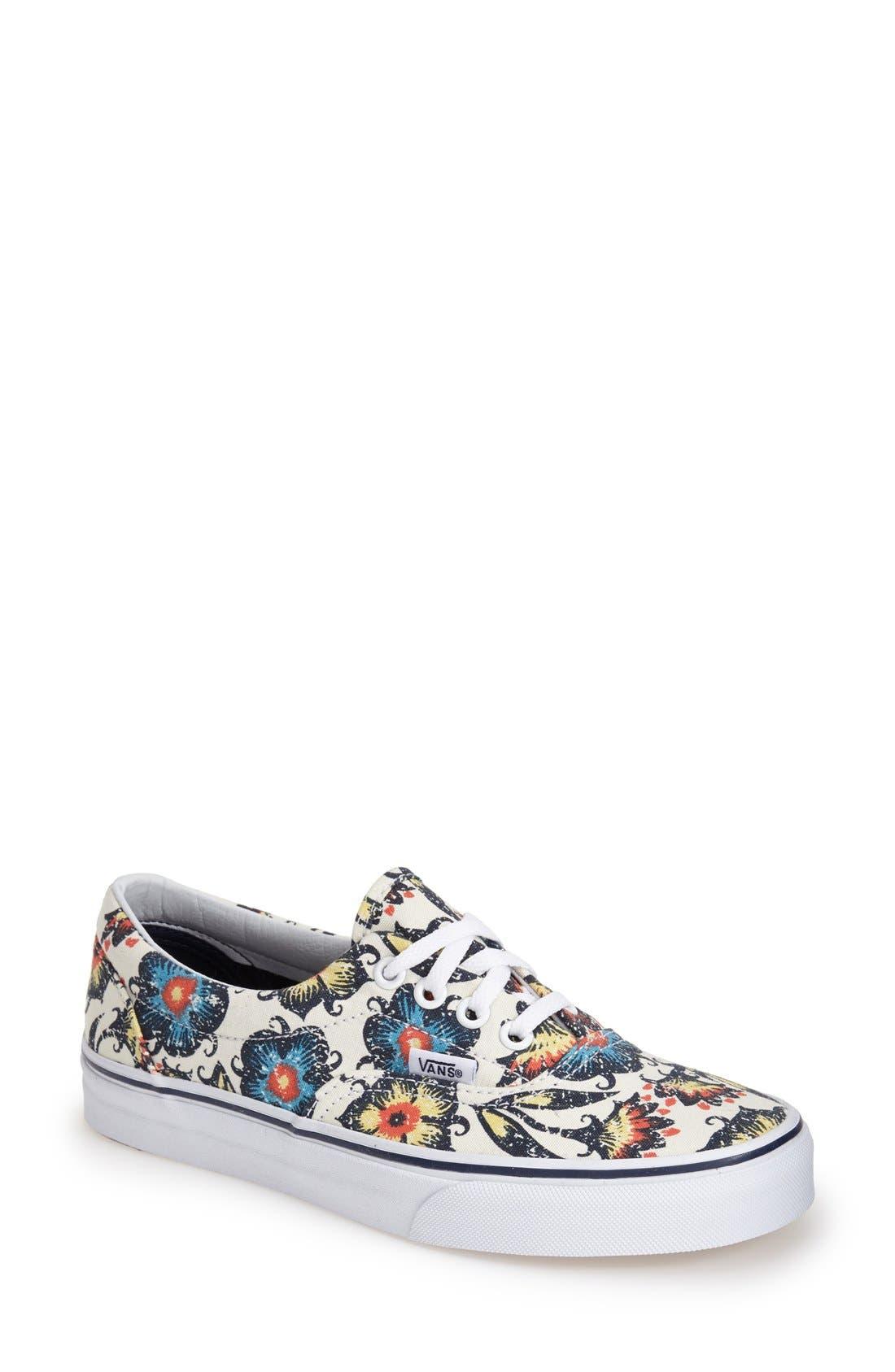 Main Image - Vans 'Era' Floral Print Sneaker (Women)