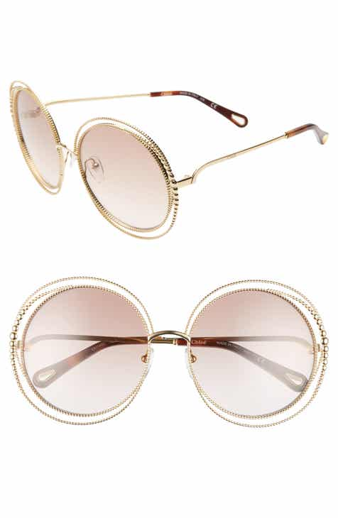cc18d651d9 Chloé Carlina 58mm Round Sunglasses