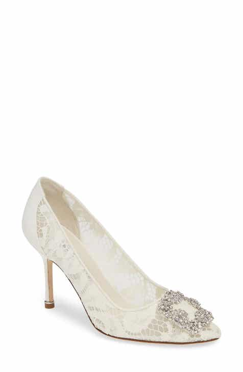 4e1ff63534 Manolo Blahnik Hangisi Brooch Lace Pump (Women)