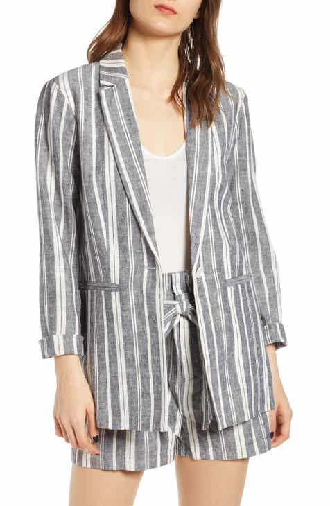 cupcakes and cashmere Maestro Stripe Boyfriend Blazer by CUPCAKES AND CASHMERE