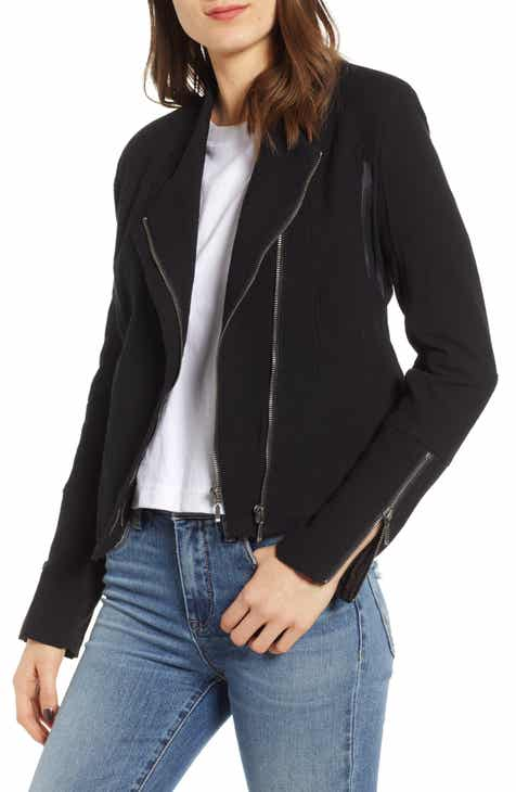 BLANKNYC Mesh Detail Crepe Jacket (Regular & Plus Size) By BLANKNYC by BLANKNYC New Design