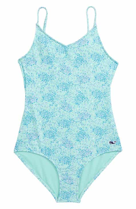 3551f38410 vineyard vines Sea Turtles One-Piece Swimsuit (Toddler Girls)