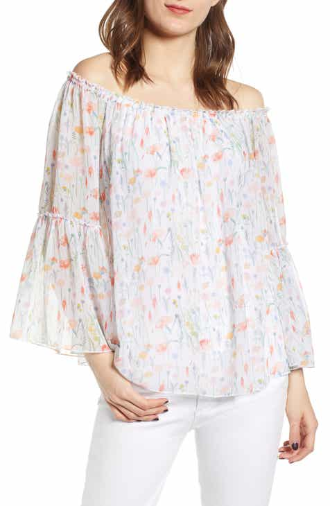 c3117bf2aefe7 Bailey44 Phantasm Floral Off the Shoulder Top.  178.00. Product Image