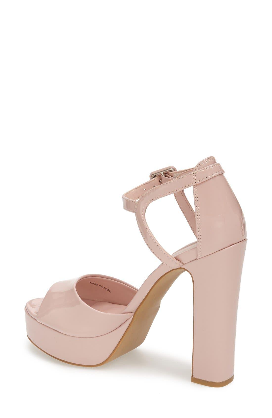 Alternate Image 2  - Topshop 'Lena' Ankle Strap Platform Sandal (Women)