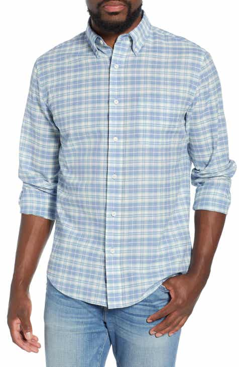 b2a8df3d Faherty Summer Blend Regular Fit Plaid Sport Shirt