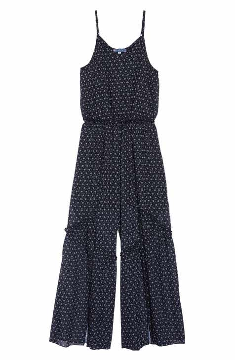 3779c60407f Truly Me Ruffle Split Leg Jumpsuit (Big Girls)
