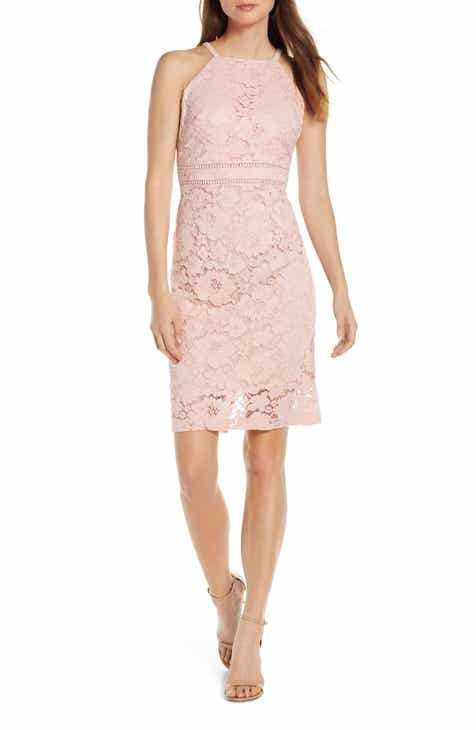 Vince Camuto Sleeveless Lace Sheath Dress (Regular & Petite)