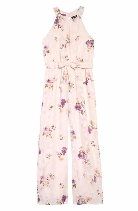 e40e93b0dd7 Zunie Floral Burnout Chiffon Jumpsuit (Big Girls)