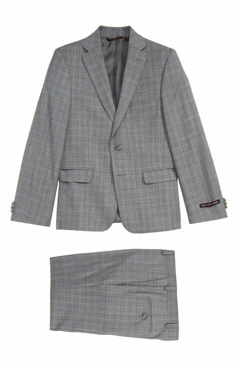 bacf98ccf25 Michael Kors Plaid Nested Wool Blend Suit (Big Boys)