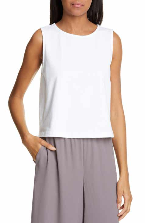 a7f8dd3326e60 Eileen Fisher Stretch Cotton Tank (Regular   Petite)