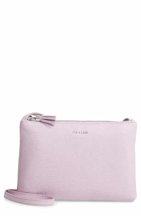 d6ec9afc2 Ted Baker London Maceyy Double Zip Leather Crossbody Bag