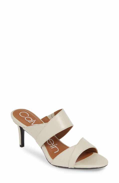 2676bdc74dd Calvin Klein Lynnae Textured Slide Sandal (Women)