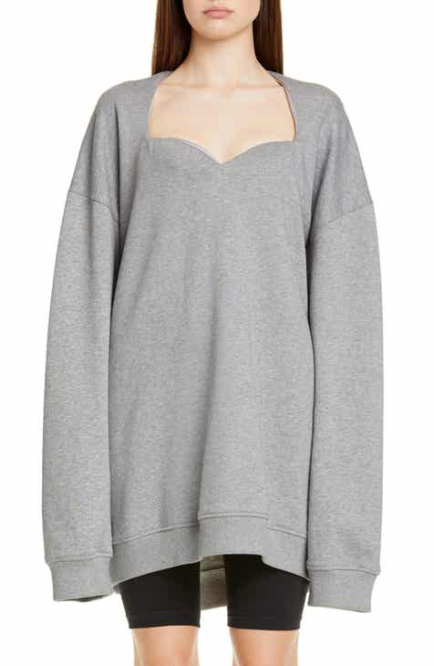 &.Layered Tie Front Sweatshirt by AND LAYERED