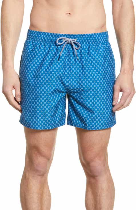 bc77765295d9 Ted Baker London Pose Geo Print Swim Trunks