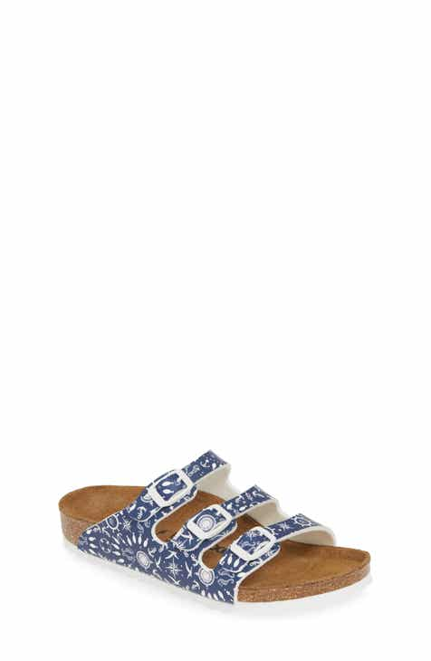 b46083f332d3 Birkenstock Florida Nautical Print Slide Sandal (Toddler   Little Kid)