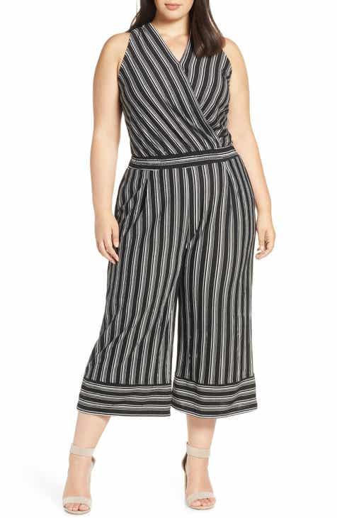 7d6e4906a5cd Wit   Wisdom Stripe Surplice Jumpsuit (Plus Size) (Nordstrom Exclusive)