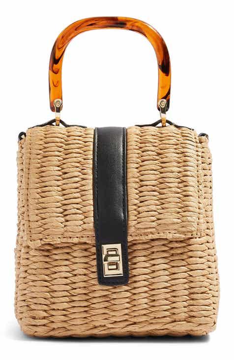 e9ebd08a09 Topshop Skyla Top Handle Straw Grab Bag
