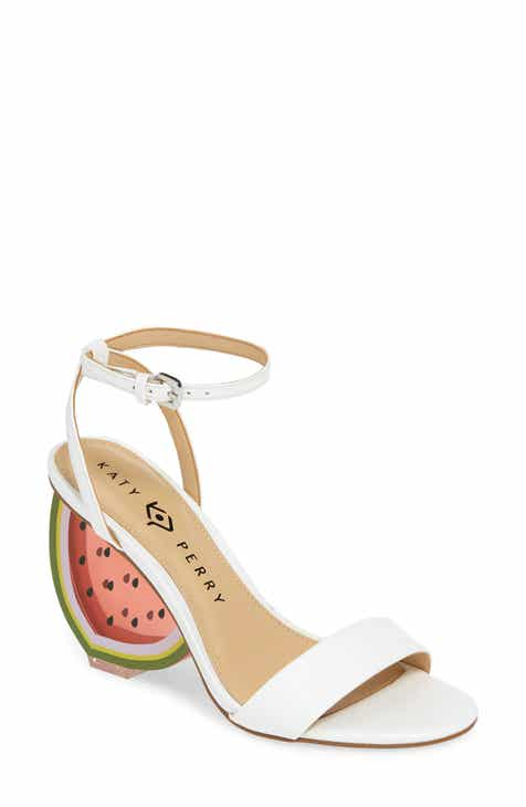 17698e1709 Katy Perry Petra Clear Watermelon Heel Sandal (Women)