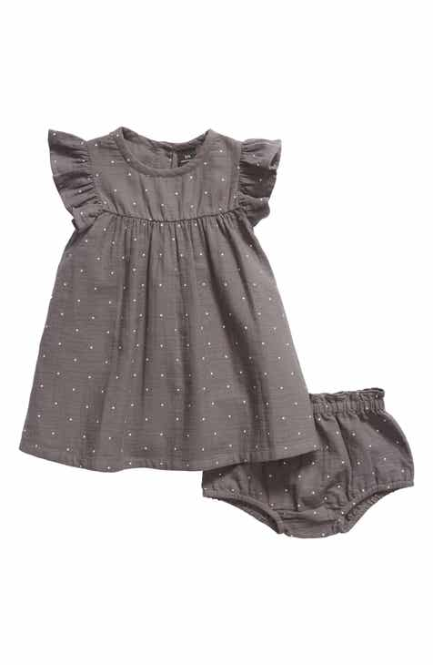 b0c58a23a Something Navy Ruffle Sleeve Dress (Baby) (Nordstrom Exclusive)