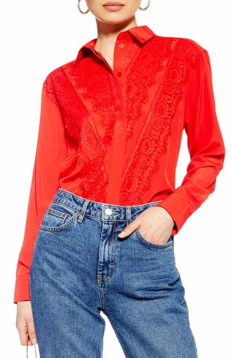 a25612c5 red blouses | Nordstrom