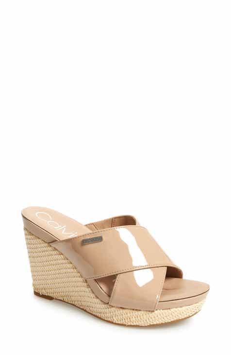 85eff88937 Calvin Klein Jacolyn Wedge Slide Sandal (Women)