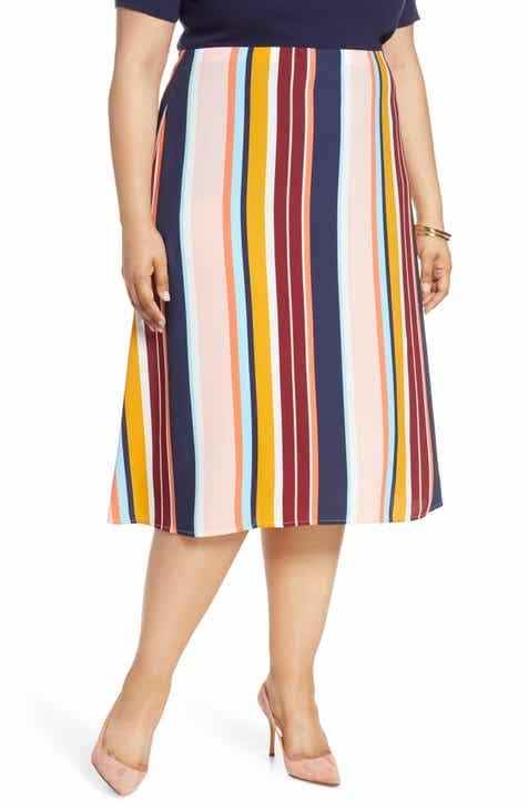 7e9248b238 Halogen® A-Line Midi Skirt (Plus Size)