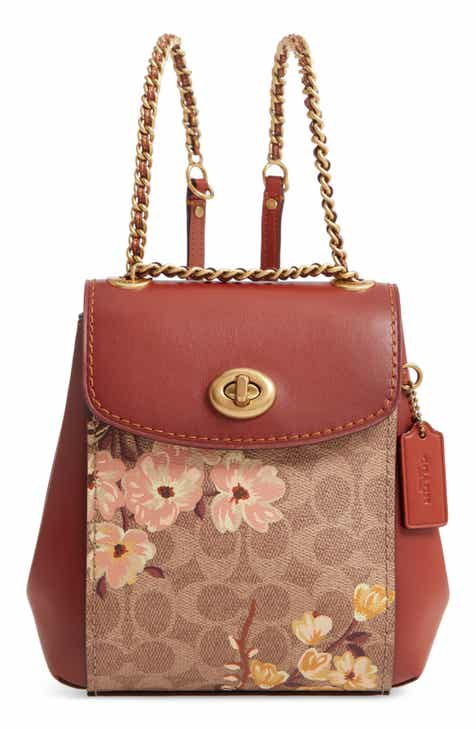 0205290a305 COACH Parker 16 Prairie Blossoms Signature Canvas Backpack