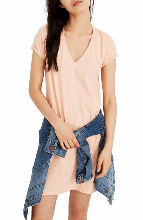 84f36cee1c11c Madewell Northside V-Neck T-Shirt Dress (Regular   Plus Size)