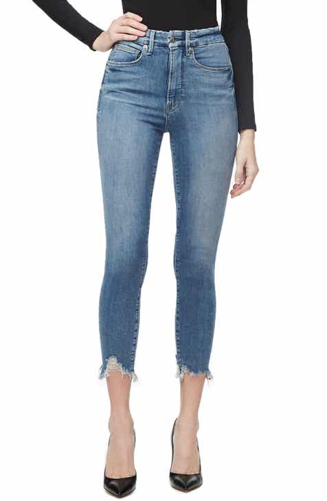 ad18a21648ca0 Good American Good Waist High Waist Crop Skinny Jeans (Blue 298) (Regular &  Plus Size)