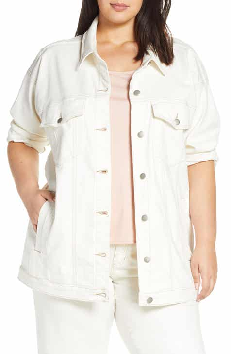 Eileen Fisher Stretch Organic Cotton Denim Jacket (Plus Size) by EILEEN FISHER