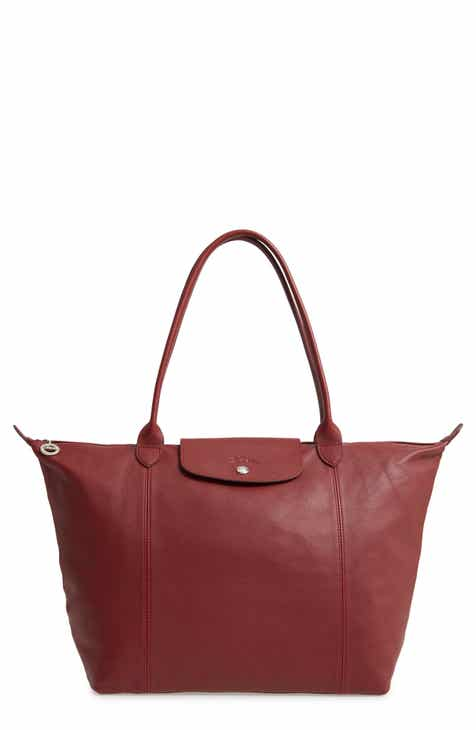 3cea91e2743 Longchamp Le Pliage Cuir Leather Tote (Nordstrom Exclusive)