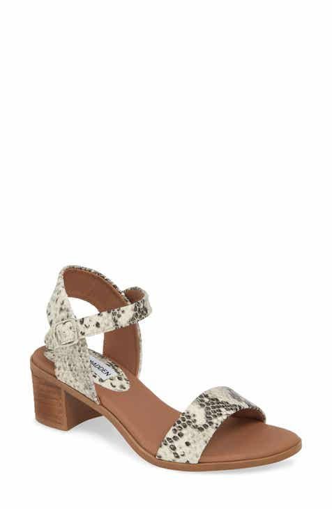 1fdd7d6737f Steve Madden April Block Heel Sandal (Women)
