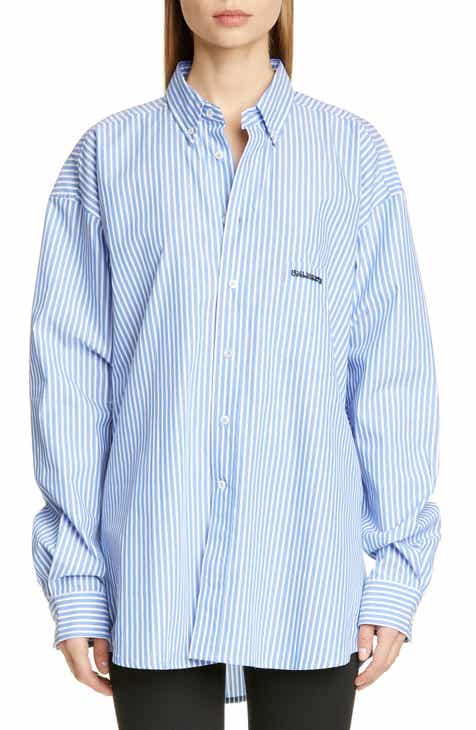 2bec61256ac9 Vetements Ring Back Neck Button Front Shirt