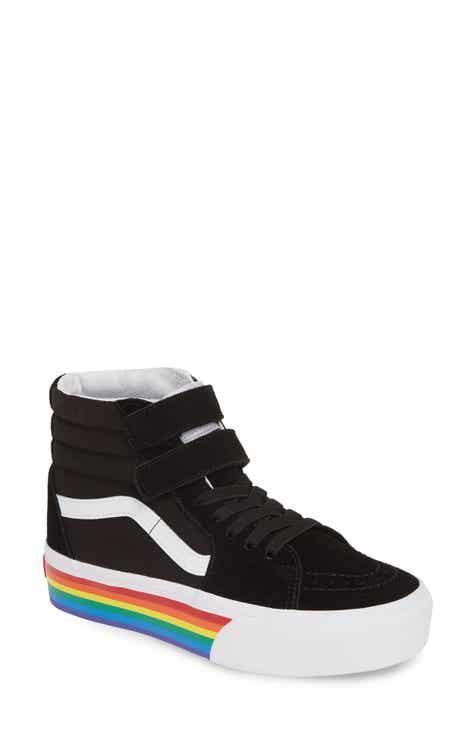 22ccdbd99a2b40 Vans Sk8-Hi V Rainbow Platform Sneaker (Women)