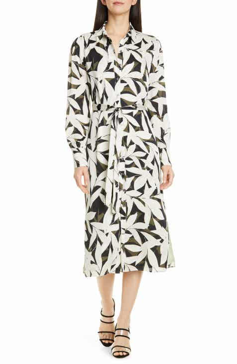 Equipment Rosalee Long Sleeve Shirtdress by EQUIPMENT