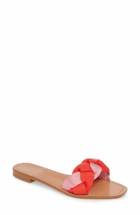 21b894aab0c Something Navy Rose Braid Slide Sandal (Women) (Nordstrom Exclusive)