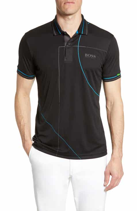 969c62f25 BOSS Paddy MK1 Regular Fit Tipped Polo. $148.00. Product Image. BLACK