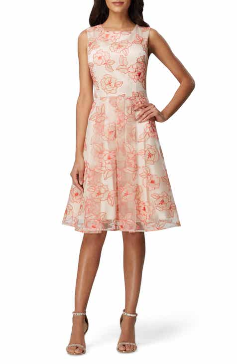 41cab611af039 Tahari Floral Embroidered Fit & Flare Dress