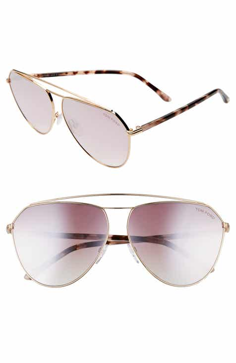 8ffd3fdbb03d Tom Ford Binx 63mm Oversize Aviator Sunglasses