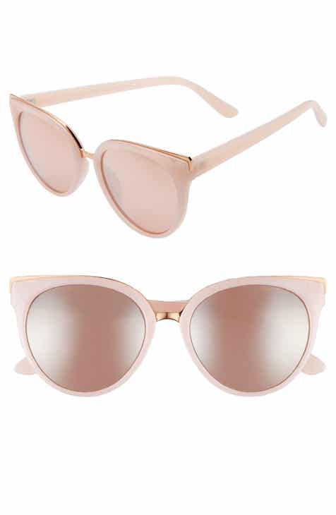 e061a2d3e8 53mm Mirrored Cat Eye Sunglasses
