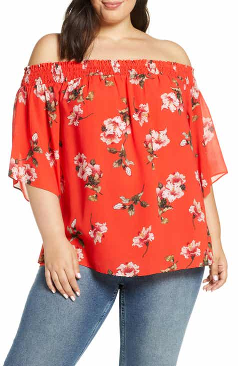 f31f0110feb Rachel Roy Collection Off the Shoulder Top (Plus Size). $99.00. Product  Image