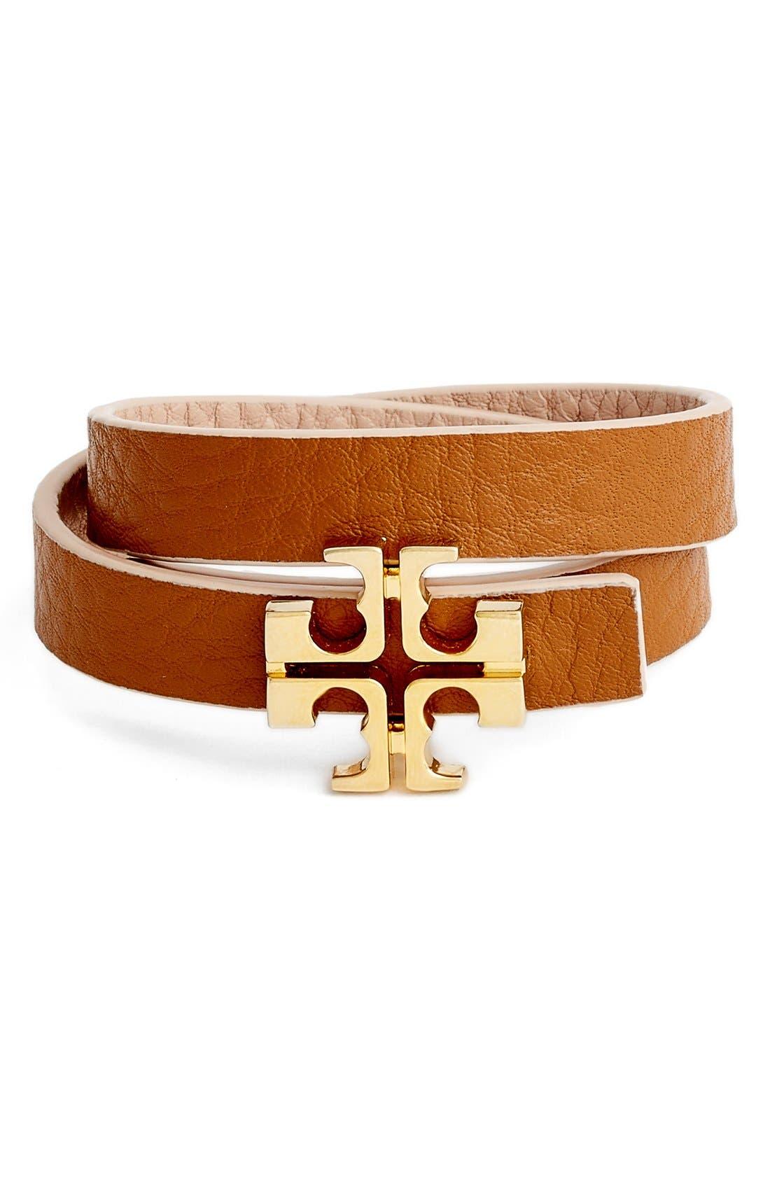 Alternate Image 2  - Tory Burch 'Split T' Reversible Leather Wrap Bracelet