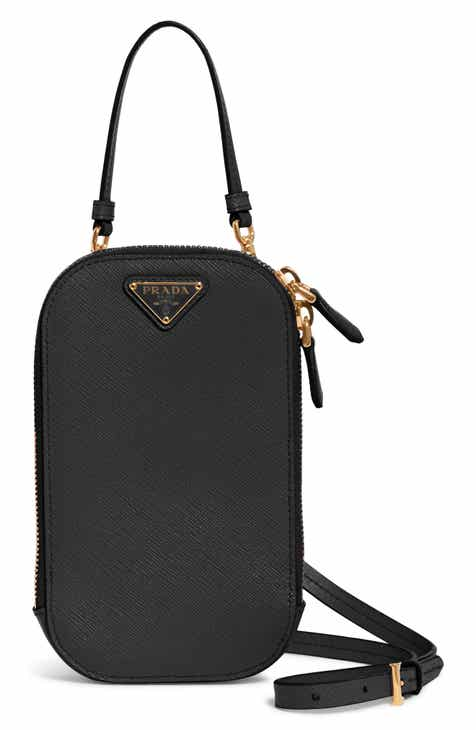 15a4fa4b505a Prada Mini Saffiano Leather Smartphone Crossbody Bag